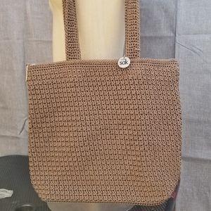 Woven handbag by The Sak, brown shoulder bag EUC